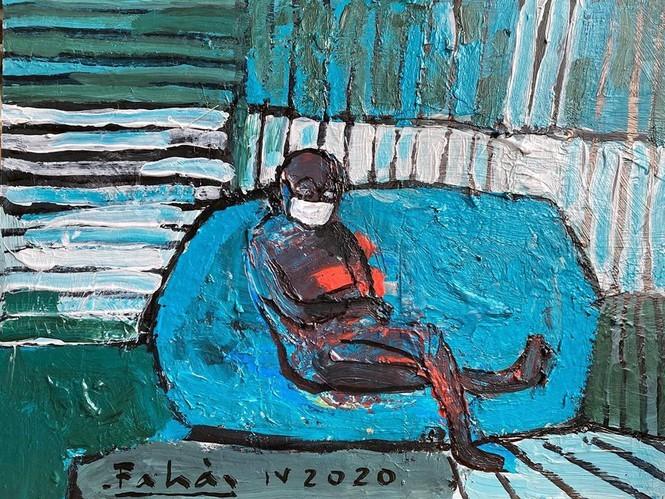 Exhibición de pinturas creadas durante el distanciamiento social. - ảnh 11