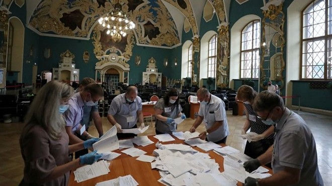 La mayoría de los votantes rusos apoya nuevas enmiendas constitucionales - ảnh 1