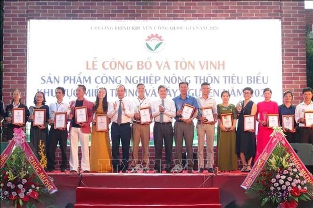 Inauguran exposición de productos industriales rurales del Centro y de las Tierras Altas Centrales de Vietnam - ảnh 1