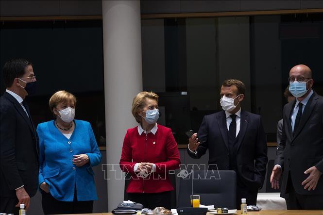 Líderes de UE por resolver problema de paquete de rescate - ảnh 1
