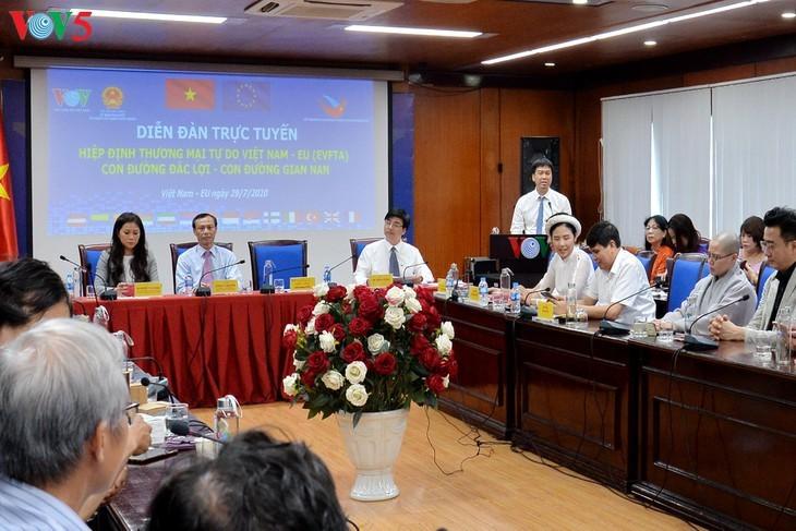 Foro en línea sobre el acuerdo de libre comercio entre Vietnam y la UE - ảnh 7