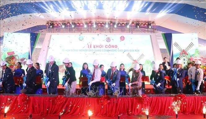 Comienza la construcción del complejo agrícola más moderno en las tierras altas centrales de Vietnam - ảnh 1