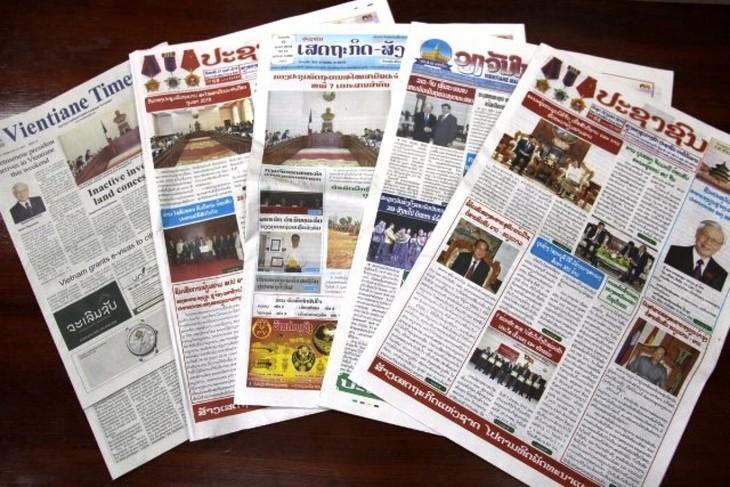 Prensa laosiana valora los preparativos del XIII Congreso Nacional del PCV - ảnh 1