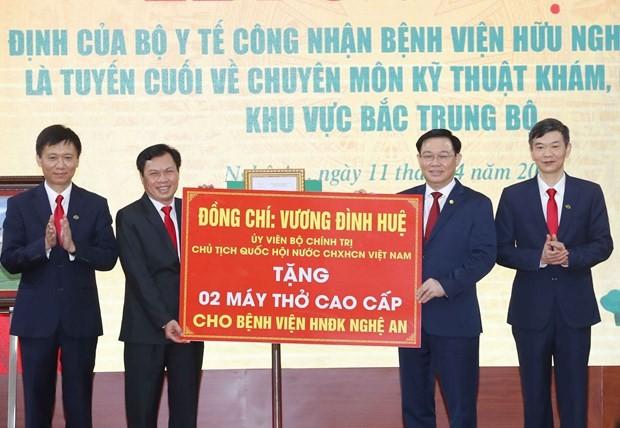 Líder parlamentario de Vietnam visita provincia central de Nghe An - ảnh 1