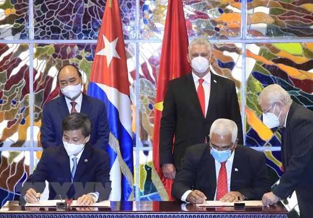 Presidente Miguel Díaz-Canel: Cuba no está sola gracias a la solidaridad de Vietnam - ảnh 1