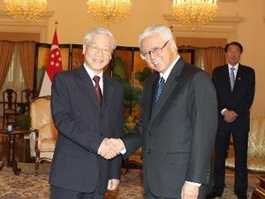 阮富仲会见新加坡总统陈庆炎 - ảnh 1