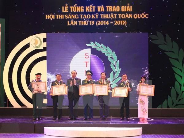 越南第十三次全国技术创新比赛颁奖仪式在河内举行 - ảnh 1