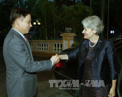 越南UNESCO国家委员会主席同UNESCO总干事会谈 - ảnh 1
