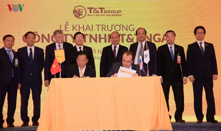 阮春福出席俄罗斯TT责任有限公司成立仪式 - ảnh 1