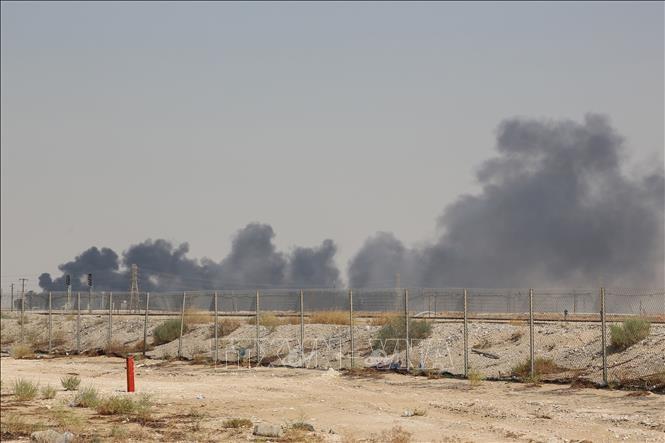 沙特石油核心遇袭 布油创近30年最大涨幅 - ảnh 1