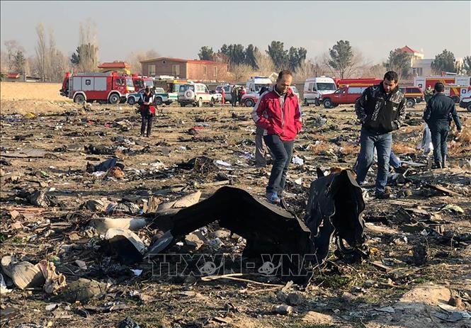 乌克兰客机在伊朗坠毁 - ảnh 1