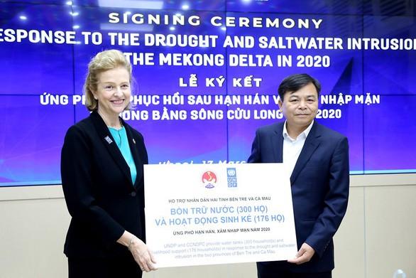 联合国开发计划署向越南干旱和咸潮入侵地区援助18.5万美元 - ảnh 1