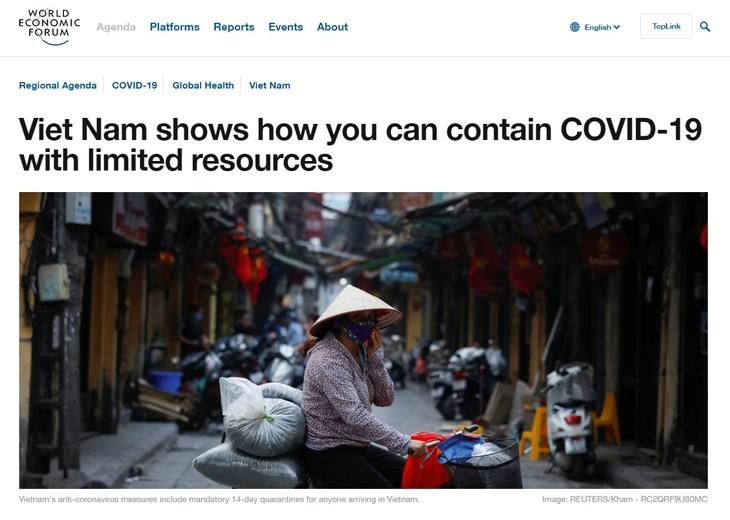世界经济论坛官网:越南成为应对肺炎疫情的灯塔 - ảnh 1