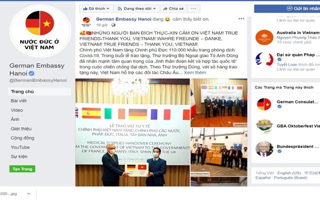 德国媒体高度评价越南向欧洲国家援助防疫物资 - ảnh 1