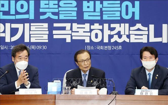 韩国国会议员选举 执政党获压倒性胜利 - ảnh 1