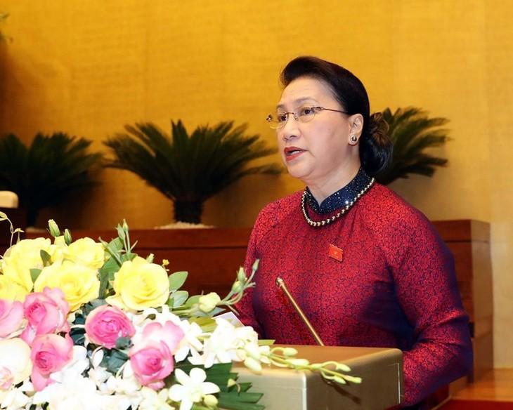 越南第十四届国会第九次会议隆重开幕 - ảnh 1