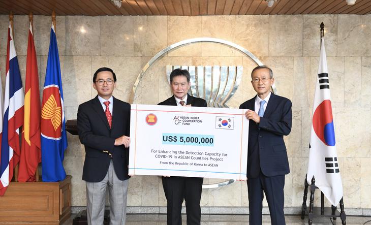 韩国资助东盟各国提高对新冠病毒的发现能力 - ảnh 1