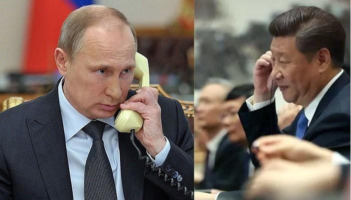 中俄领导人互相支持,反对外部干涉 - ảnh 1