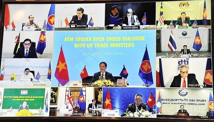 ASEAN 2020:东盟与英国举行视频对话 - ảnh 1