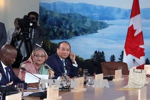 Sommet du G7: Nguyên Xuân Phuc propose un mécanisme de coopération internationale - ảnh 2