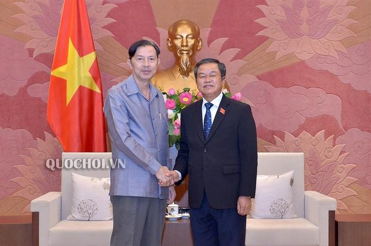 Une délégation de l'Institut d'études législatives du Laos reçue par Dô Ba Ty - ảnh 1