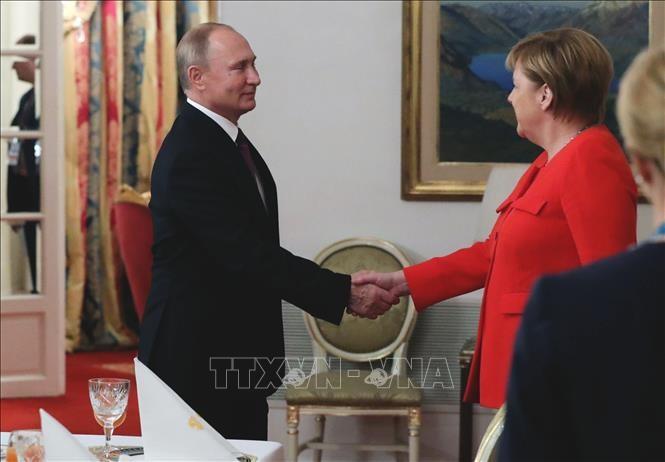 Angela Merkel et Vladimir Poutine s'accordent pour organiser un sommet sur l'Ukraine - ảnh 1