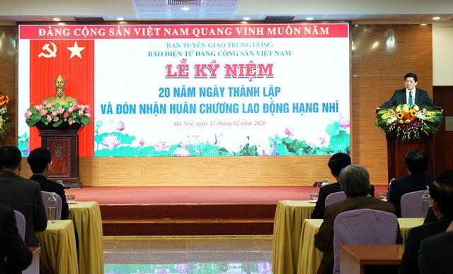 Le journal électronique du Parti communiste vietnamien souffle ses 20 bougies - ảnh 1