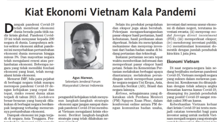 Chercheur indonésien : Suite à l'épidémie, le Vietnam est devenu une destination stratégique des investisseurs - ảnh 1