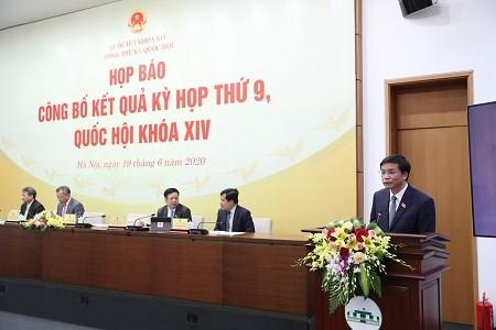 Conférence de presse sur la 9e session de l'Assemblée nationale - ảnh 1