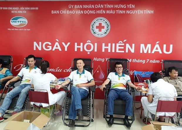 Don de sang : près de 10.000 unités de sang collectées - ảnh 1