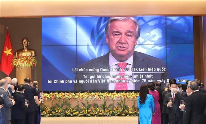 Fête nationale : le secrétaire général de l'ONU congratule le Vietnam - ảnh 1