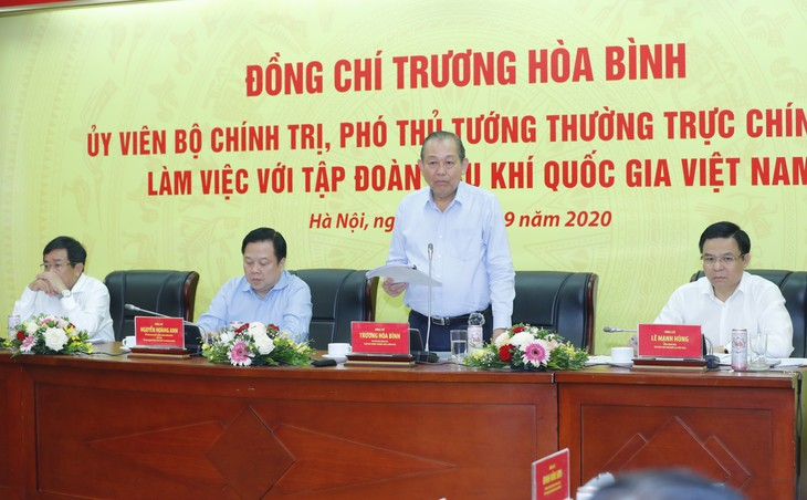 Truong Hoa Binh travaille avec le groupe gazo-pétrolier du Vietnam - ảnh 1