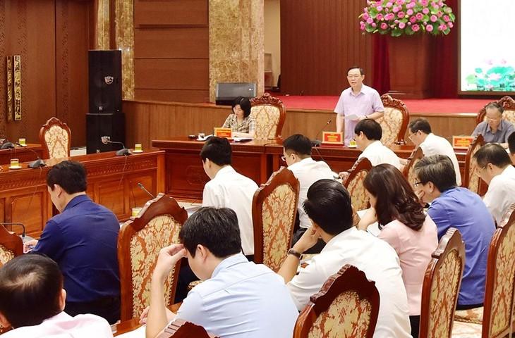 Vuong Dinh Huê : Hanoi se mobilise pour atteindre une croissance de 5% en 2020 - ảnh 1