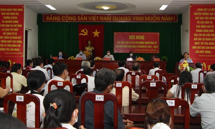Législatives: Trân Thanh Mân fait campagne dans la province de Hâu Giang - ảnh 1