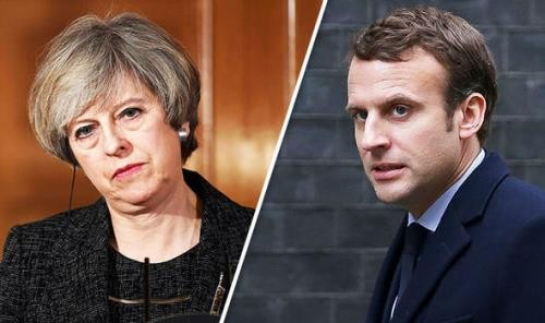 Macron, May questioned over Syria air strikes - ảnh 1