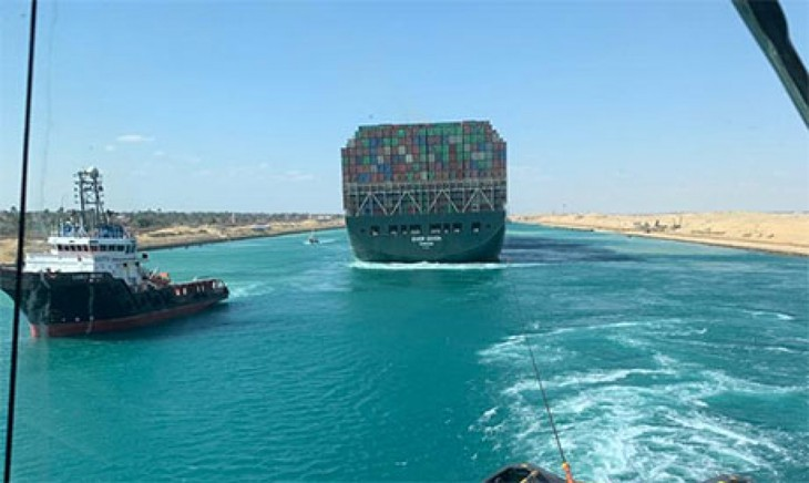 Ever Given sucessfully re-floated in Suez Canal - ảnh 1
