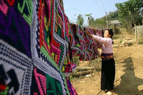 Webarbeit und Präzision der Trachten der Muong - ảnh 2