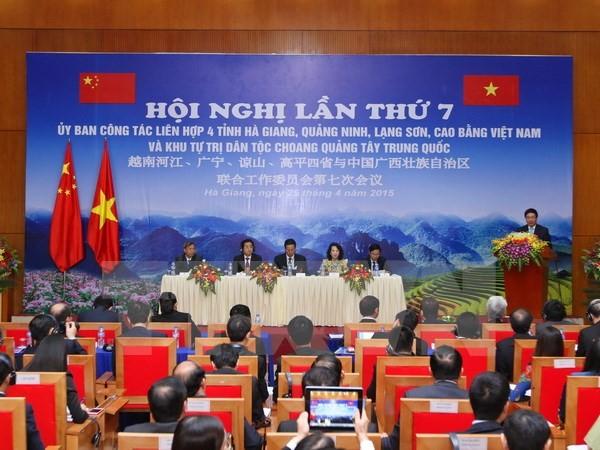 Vier Grenzprovinzen Vietnams verstärken die Zusammenarbeit mit dem autonomen Gebiet Zhuang in China - ảnh 1