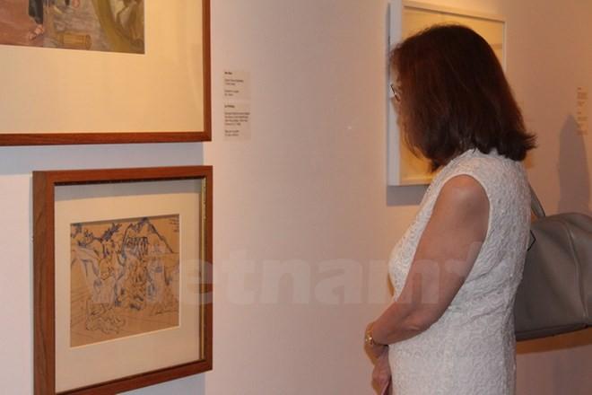 Ausstellung der Kunstwerke über den Vietnam-Krieg in Singapur - ảnh 1