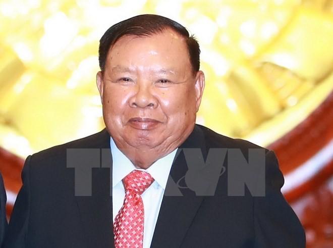 Der laotische Staatspräsident Bounnhang Vorachith zu Gast in Vietnam  - ảnh 1