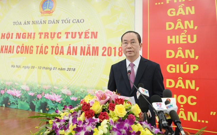 Das oberste Volksgericht verkündet den Plan für die Arbeit im Jahr 2018  - ảnh 1