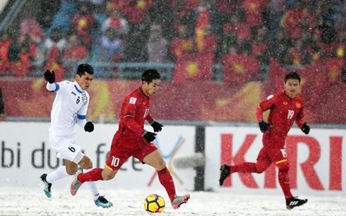 Die vietnamesische U23-Fußballmannschaft steht in den Schlagzeilen der internationalen Zeitungen - ảnh 1