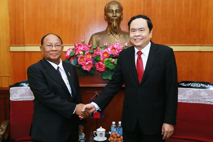 Tran Thanh Man empfängt die Delegation des kambodschanischen Parlaments - ảnh 1