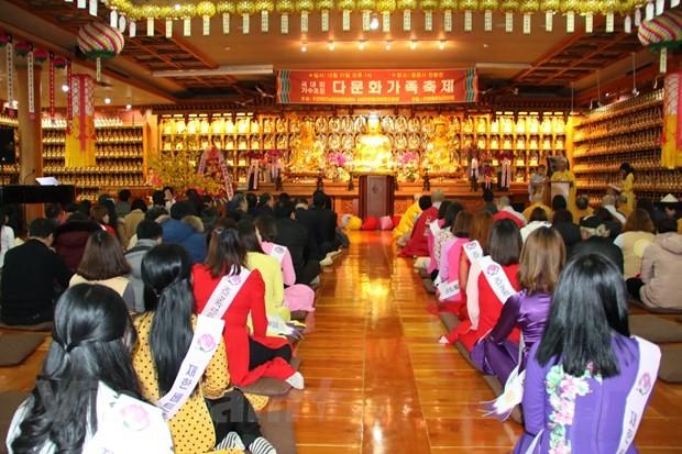 Der Verband der vietnamesischen Buddhisten in Südkorea feiert vorzeitig das Neujahrsfest für die Gemeinde - ảnh 1