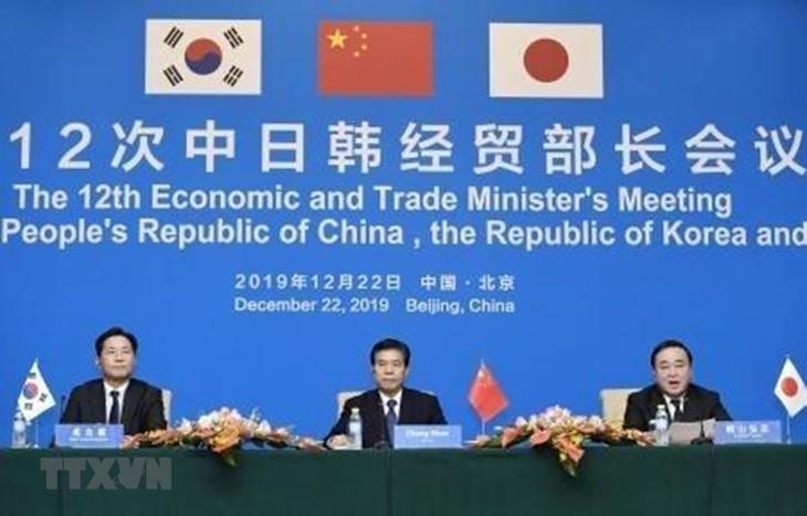 China, Japan und Südkorea wollen Verhandlungen über Freihandelsabkommen beschleunigen - ảnh 1