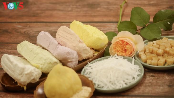 Farbenfrohe Troi- und Chay-Kuchen für das Fest Hanshi - ảnh 1