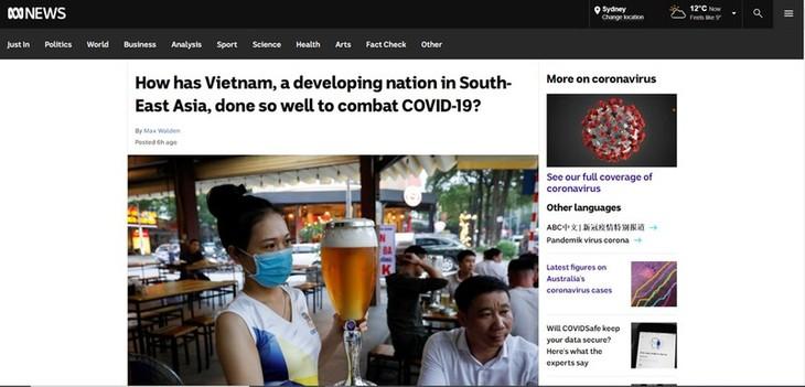 Australiens Presse: Scharfsinnigkeit und Entschlossenheit sind Schlüssel für die gute Kontrolle der Epidemie in Vietnam - ảnh 1