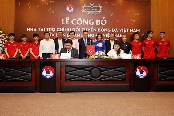 Die vietnamesische Fußballnationalmannschaft hat einen neuen Sponsor - ảnh 1