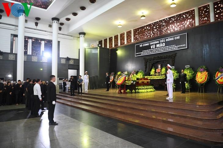 Trauerfeier des ehemaligen Leiters des Parlamentsbüros Vu Mao - ảnh 1