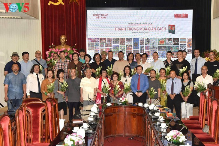 Ausstellung der Bilder der vietnamesischen Maler während der sozialen Distanzierung - ảnh 2